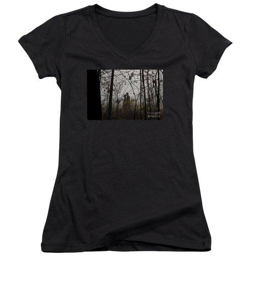 Walking To Church Women's V-Neck T-Shirt