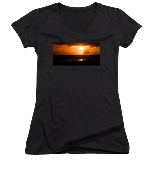 Watching Sunset Women's V-Neck