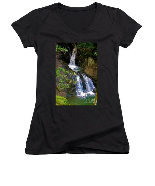 Waterfall In The Currumbin Valley Women's V-Neck
