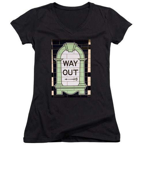 Way Out Women's V-Neck (Athletic Fit)