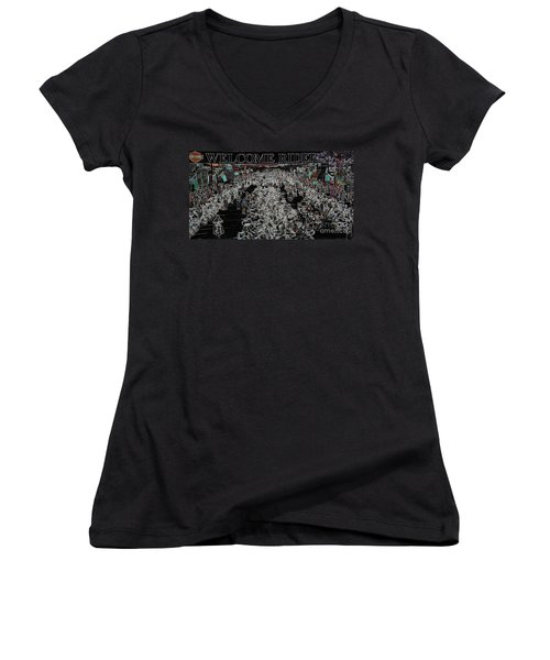 Welcome Riders Women's V-Neck