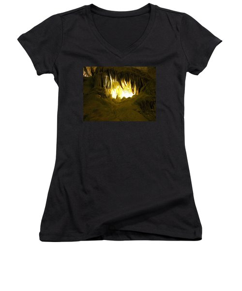 Whales Mouth Women's V-Neck (Athletic Fit)