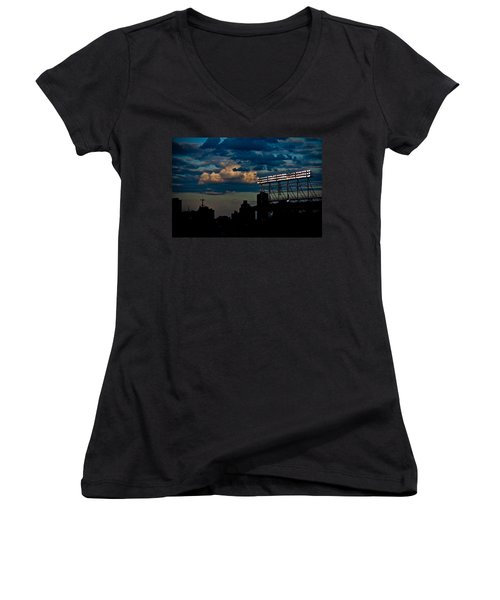 Wrigley Field Light Stand Women's V-Neck (Athletic Fit)