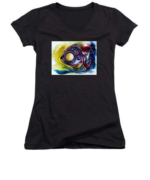 Wtfish 3816 Women's V-Neck