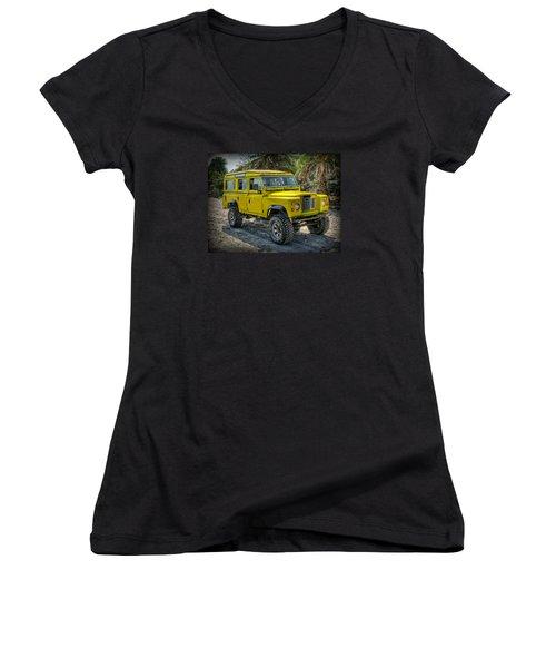 Yellow Jeep Women's V-Neck