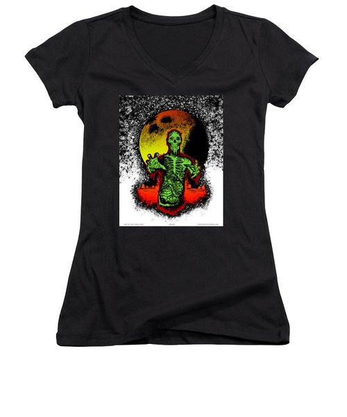 Zombie Women's V-Neck (Athletic Fit)