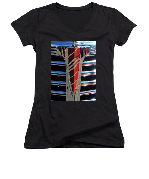 41 Chevrolet Emblem Women's V-Neck T-Shirt