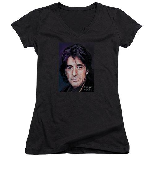Al Women's V-Neck T-Shirt (Junior Cut) by Andrzej Szczerski