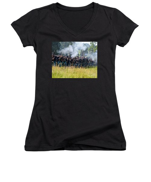 Gettysburg Union Infantry 9360c Women's V-Neck