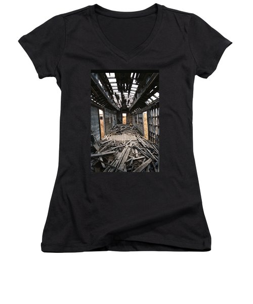 Ghost Train Women's V-Neck (Athletic Fit)