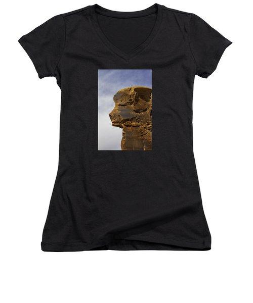 Pharaoh Women's V-Neck T-Shirt (Junior Cut) by Elizabeth Eldridge