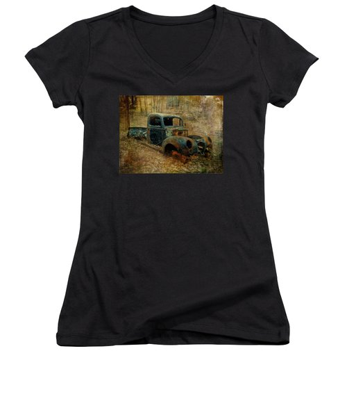 Resurrection Vintage Truck Women's V-Neck
