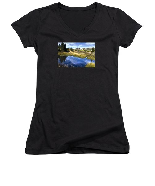 Road To Steamboat Lake Women's V-Neck T-Shirt