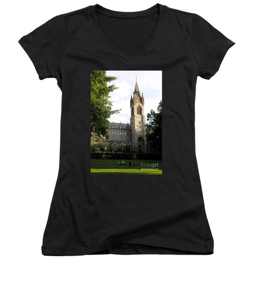 University Center - Lehigh University Women's V-Neck T-Shirt