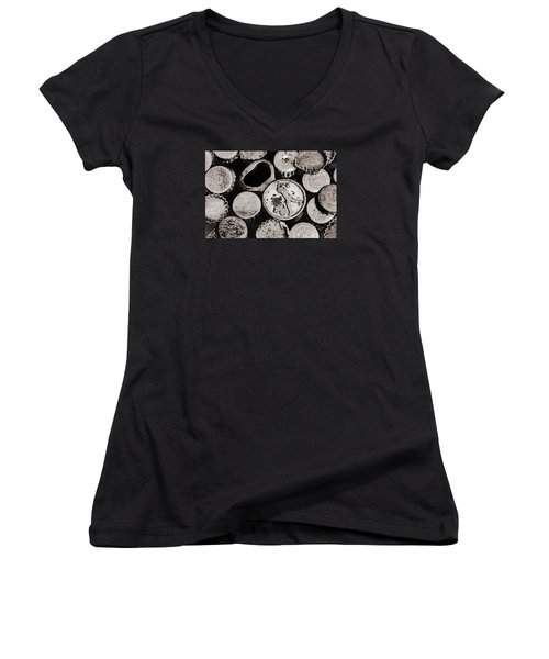 Women's V-Neck T-Shirt (Junior Cut) featuring the photograph  Vintage Opener  by Andrey  Godyaykin