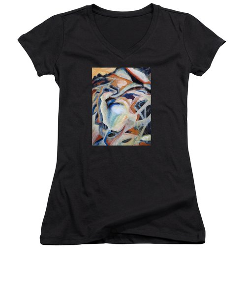 01317 Process Women's V-Neck (Athletic Fit)