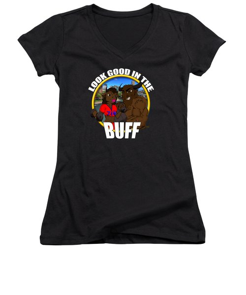 013 Look Good In The Buff Women's V-Neck (Athletic Fit)