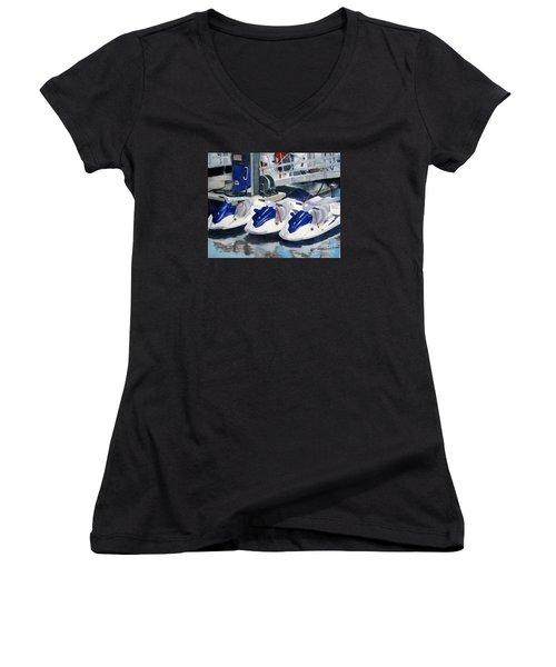 1 2 3 Go Women's V-Neck T-Shirt