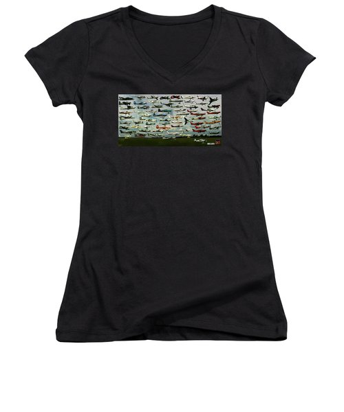 Airventure Cup Air Race, 2017 - Panorama Women's V-Neck