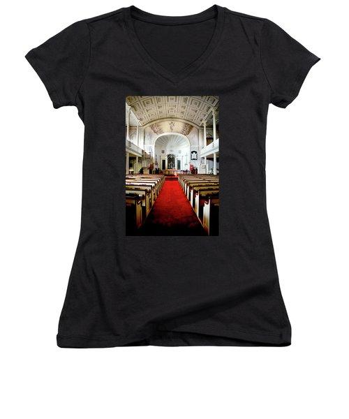 Aisle Of God Women's V-Neck T-Shirt (Junior Cut) by Greg Fortier