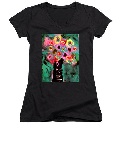 Anemones Women's V-Neck (Athletic Fit)