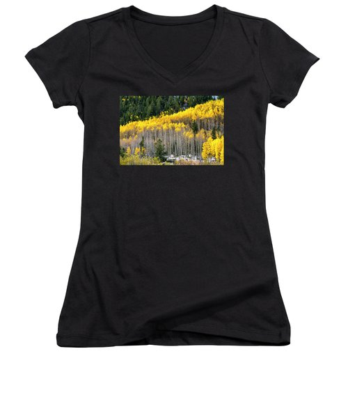 Aspen Trees In Fall Color Women's V-Neck