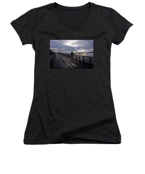 Astoria-megler Bridge 4 Women's V-Neck