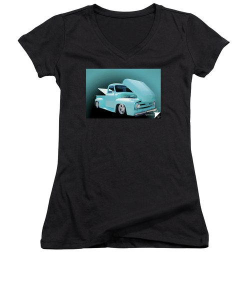 Women's V-Neck T-Shirt (Junior Cut) featuring the photograph Baby Blue 2 by Jim  Hatch