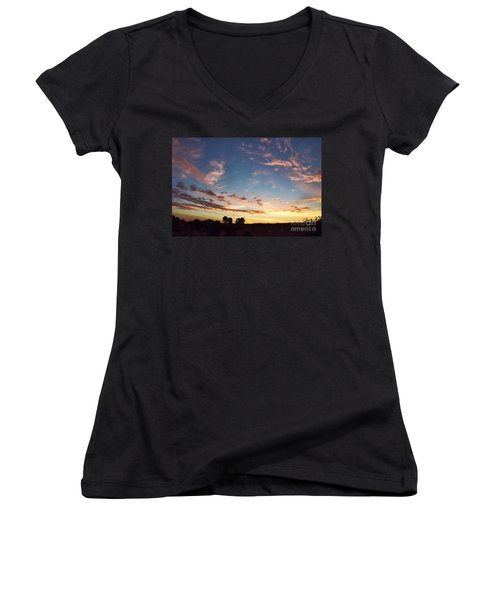Beauty Is A Cherished Gift From God Women's V-Neck T-Shirt (Junior Cut) by Sharon Soberon