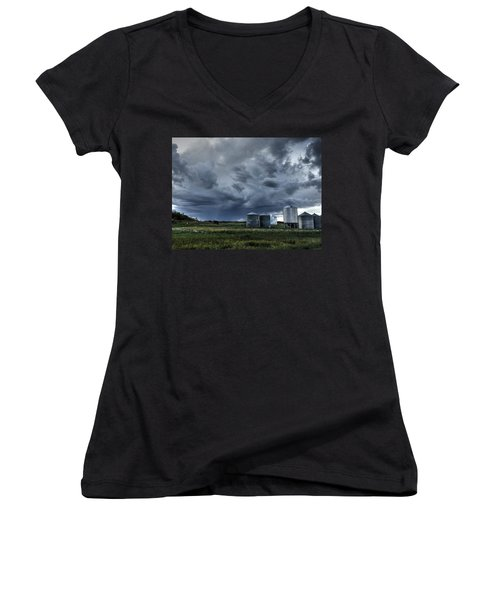 Bins Women's V-Neck T-Shirt
