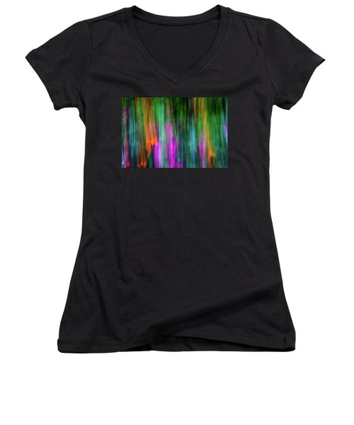 Blurred #3 Women's V-Neck (Athletic Fit)