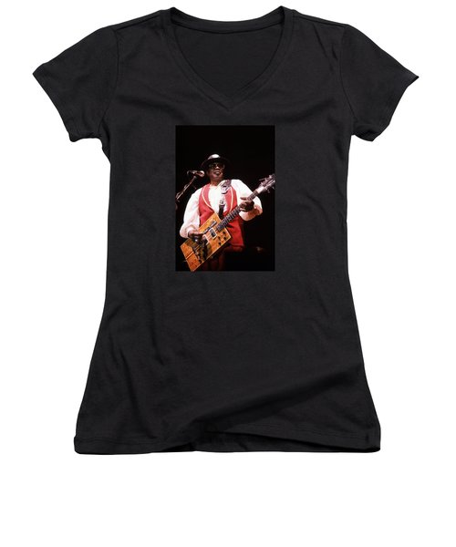 Bo Diddley Women's V-Neck (Athletic Fit)