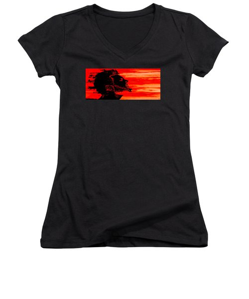 Break Women's V-Neck T-Shirt (Junior Cut) by Ken Walker