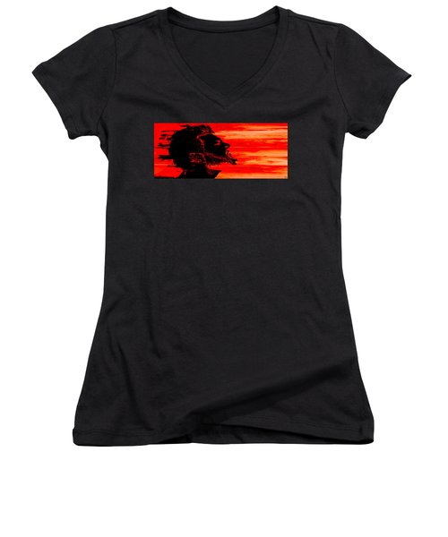 Break Women's V-Neck T-Shirt