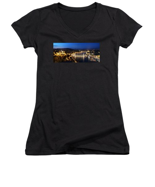Budapest. View From Gellert Hill Women's V-Neck (Athletic Fit)