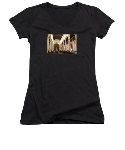 Cathedral Women's V-Neck T-Shirt (Junior Cut)