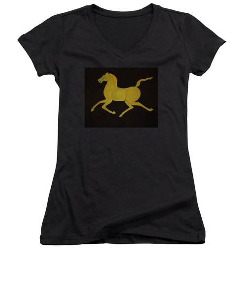 Chinese Horse #2 Women's V-Neck T-Shirt