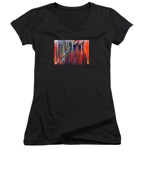 Climbing The Wall Women's V-Neck T-Shirt