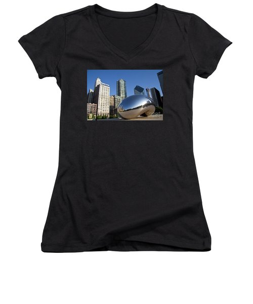 Cloudgate Reflects Women's V-Neck
