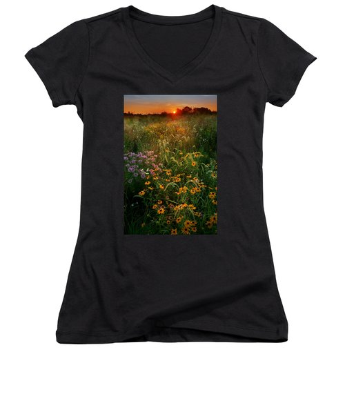 Colors Of Summer Women's V-Neck T-Shirt