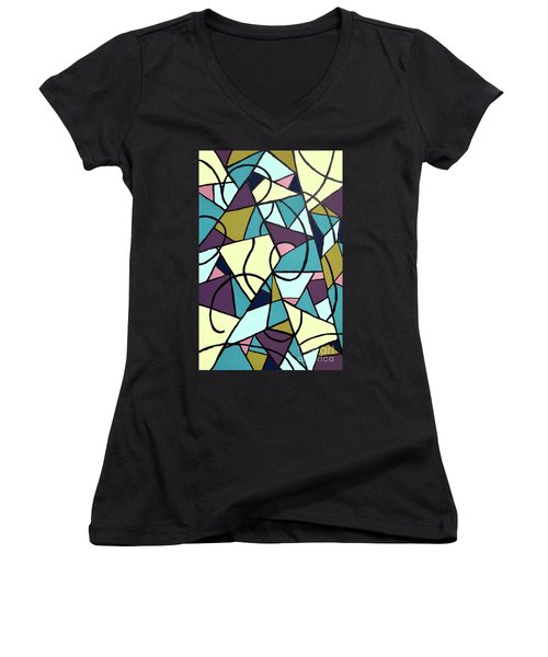 Composition #22 Women's V-Neck (Athletic Fit)