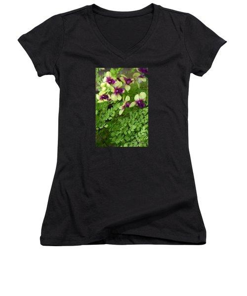 Contrasts Women's V-Neck T-Shirt (Junior Cut) by Deborah  Crew-Johnson