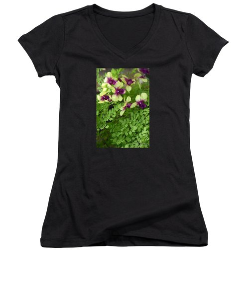Contrasts Women's V-Neck T-Shirt