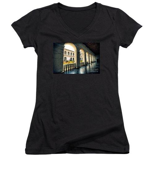 Corridor Women's V-Neck T-Shirt