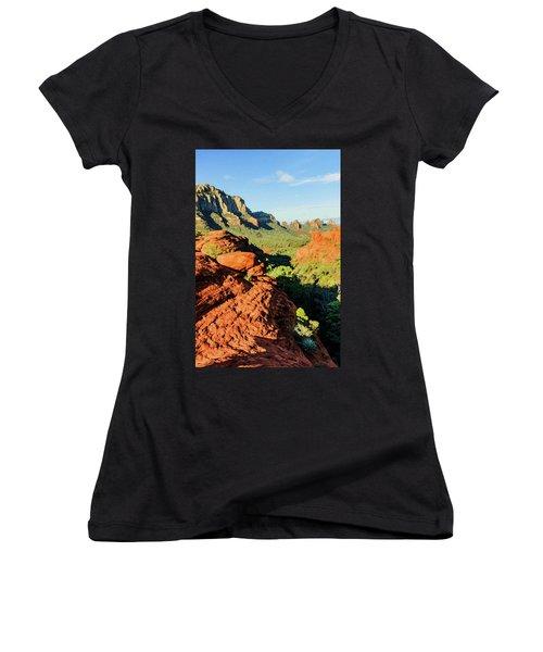 Cowpie 07-112 Women's V-Neck T-Shirt (Junior Cut) by Scott McAllister