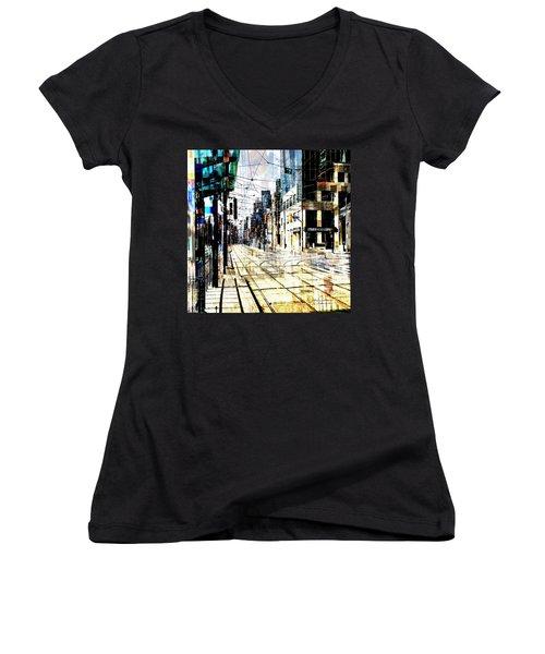 Crossing Spadina Women's V-Neck T-Shirt