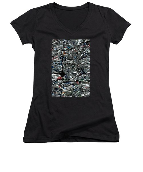 Crushed Cans Women's V-Neck (Athletic Fit)