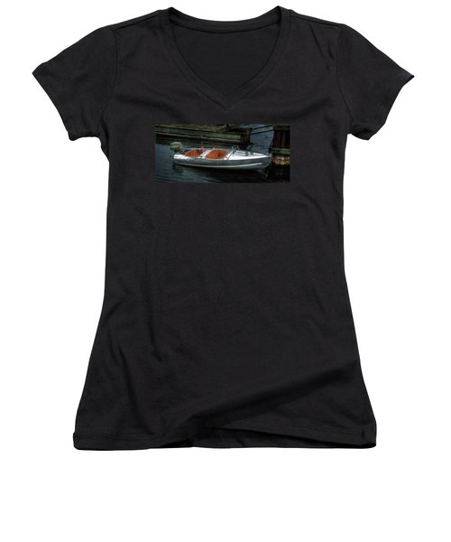 Cute Boat - 1948 Feather Craft Women's V-Neck T-Shirt