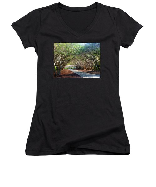 Dallas 1 Of 5 Women's V-Neck T-Shirt (Junior Cut) by Tina M Wenger