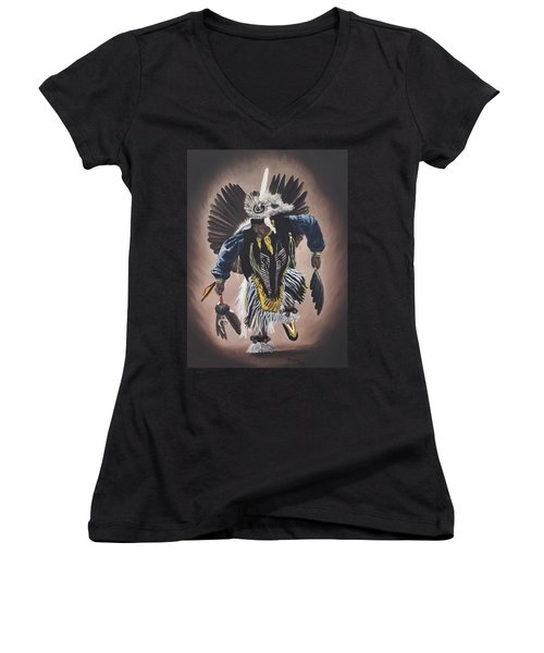 Dancing In The Spirit  Women's V-Neck (Athletic Fit)